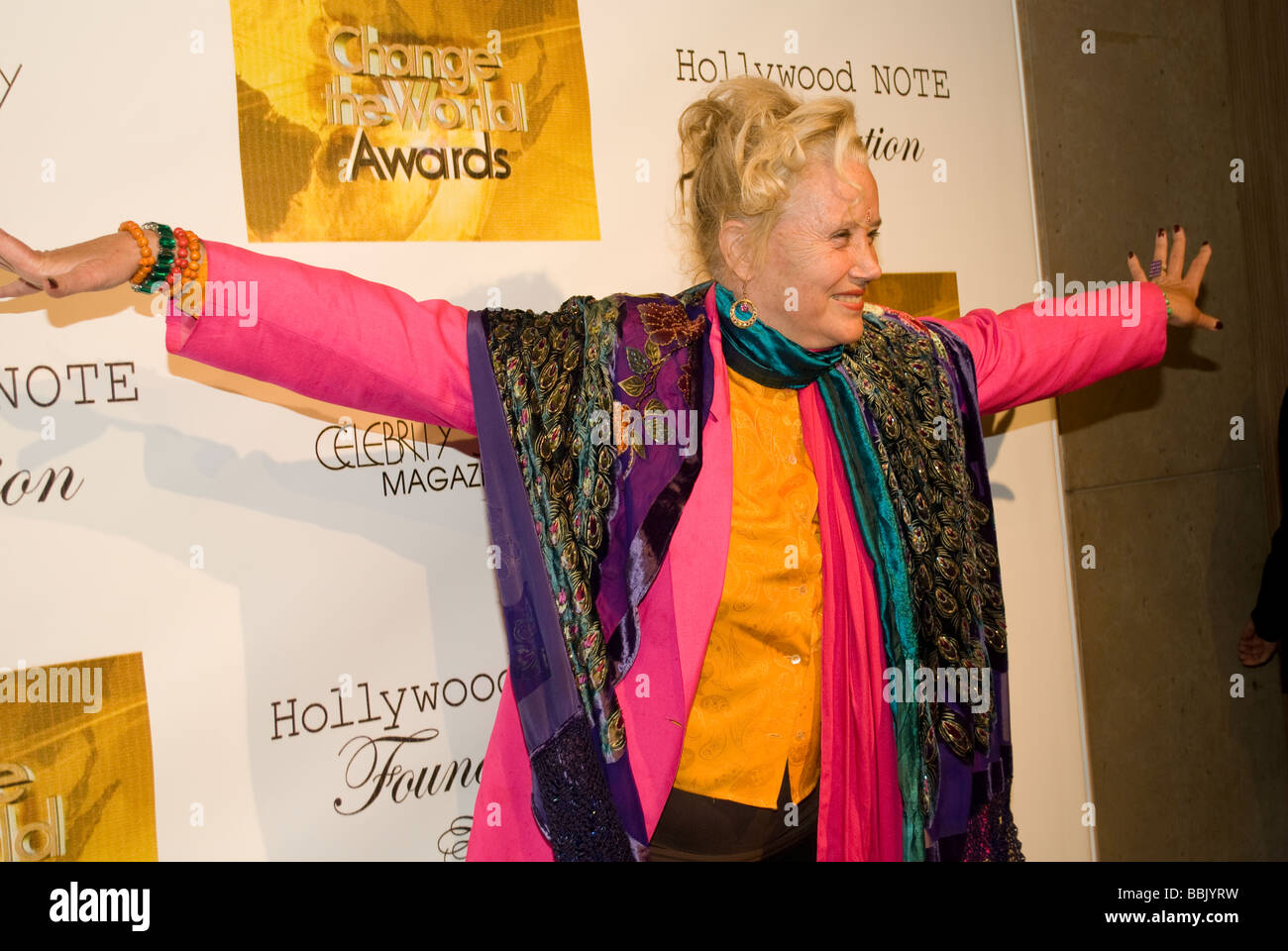 BEVERLY HILLS MAY 31 2009 Actress Sally Kirkland Anna Valley of the Dolls at the Change the World Humanitarian Awards Stock Photo