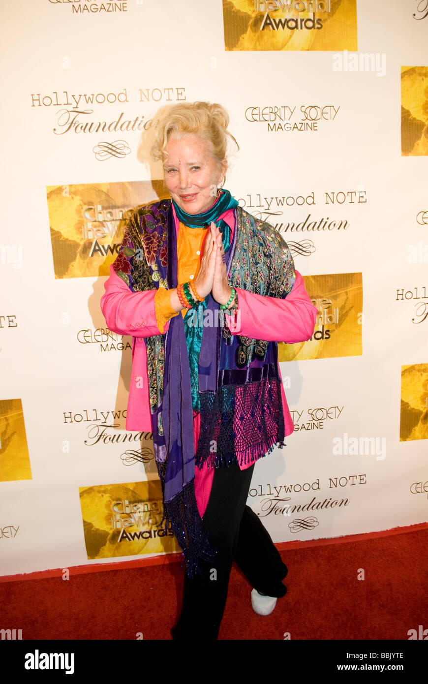BEVERLY HILLS MAY 31 2009 Actress Sally Kirkland Anna Valley of the Dolls at the Change the World Humanitarian Awards - Stock Image