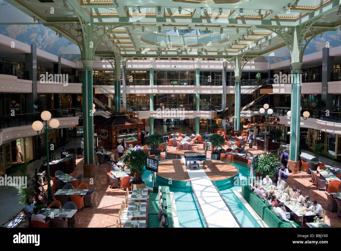 mall and restaurants, Four Seasons Hotel, Giza, Cairo, Egypt Stock Photo