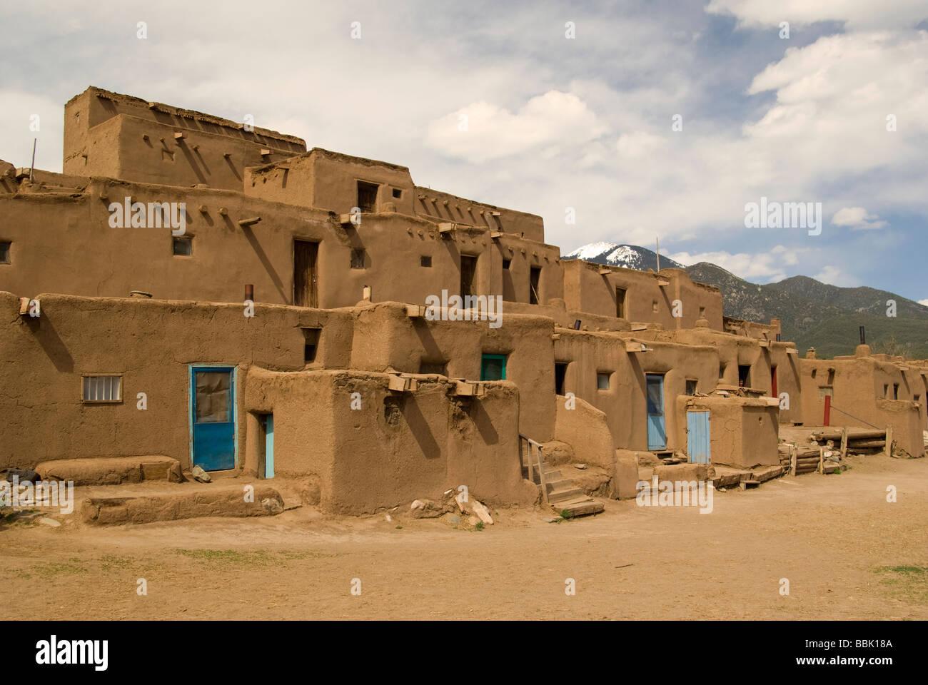 USA New Mexico Taos Pueblo - Stock Image