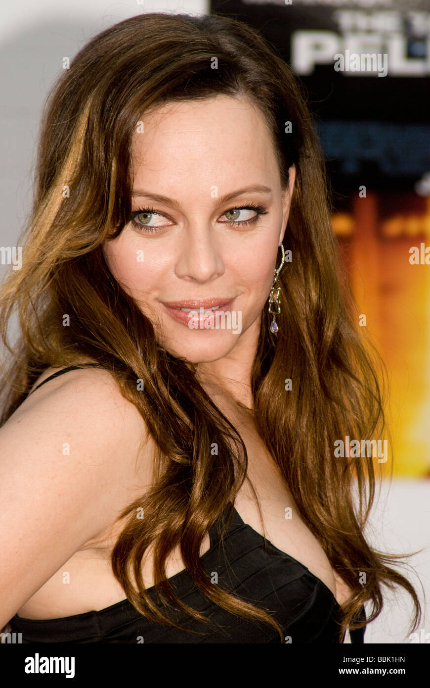 LOS ANGELES - JUNE 4: Actress Melinda Clarke arrives at the premiere of new film, 'Taking of Pelham 123' - Stock Image