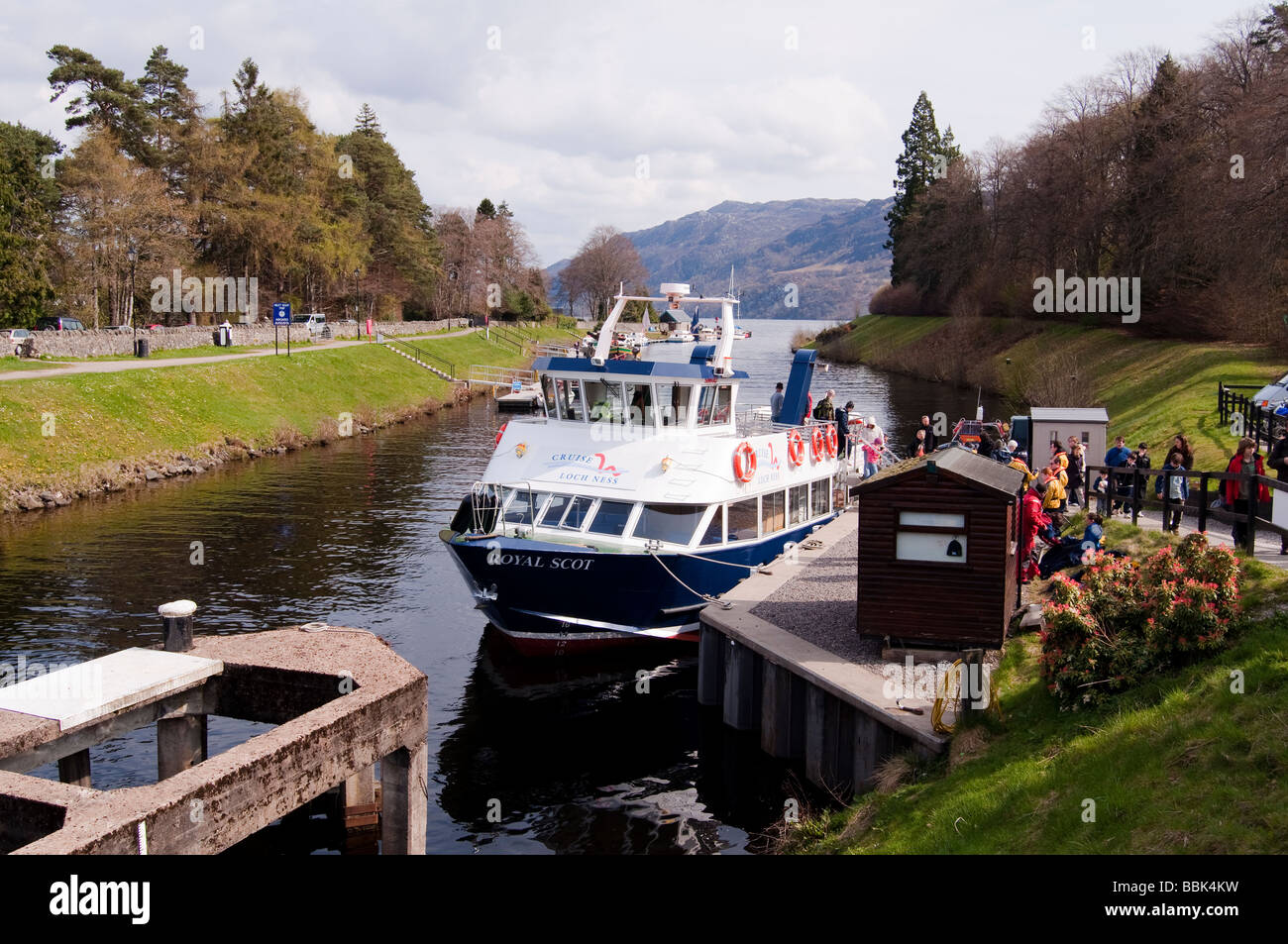 Royal Scot Loch Ness Cruise Boat - Stock Image