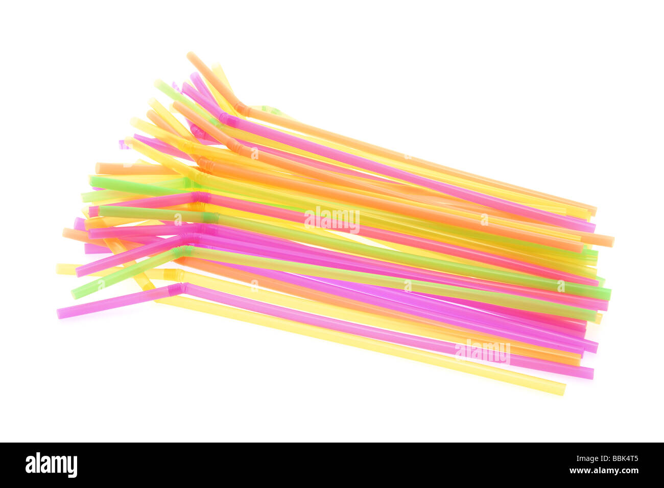 Plastic Drinking Straws - Stock Image