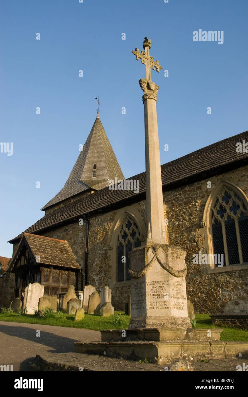 St Marys Church, Westerham, Kent, England - Stock Image
