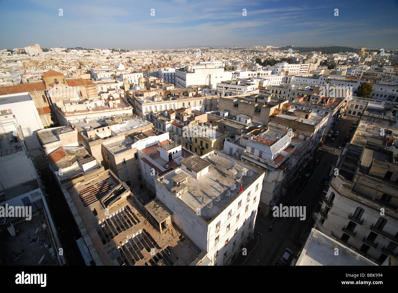 TUNIS, TUNISIA. An evening view over the city. 2009. - Stock Image