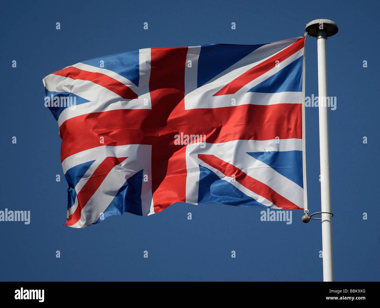 Union Jack on a flagpole - Stock Image
