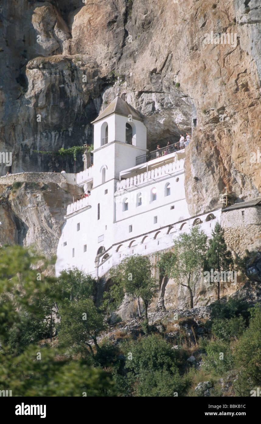Ostrog monastery, Montenegro, Balkans Stock Photo