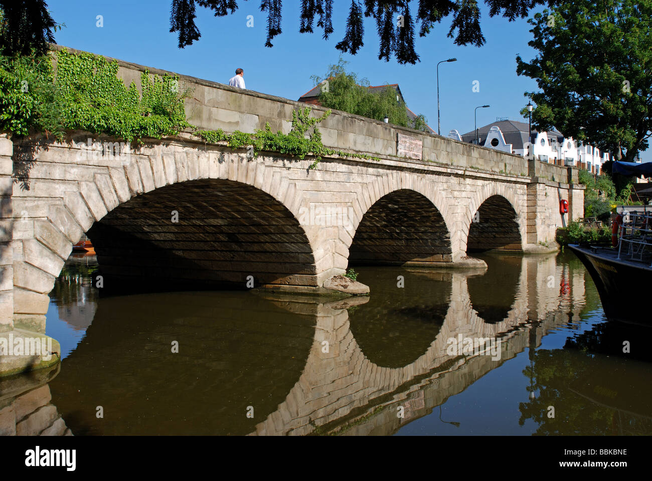 Folly Bridge and River Thames, Oxford, Oxfordshire, England, UK Stock Photo