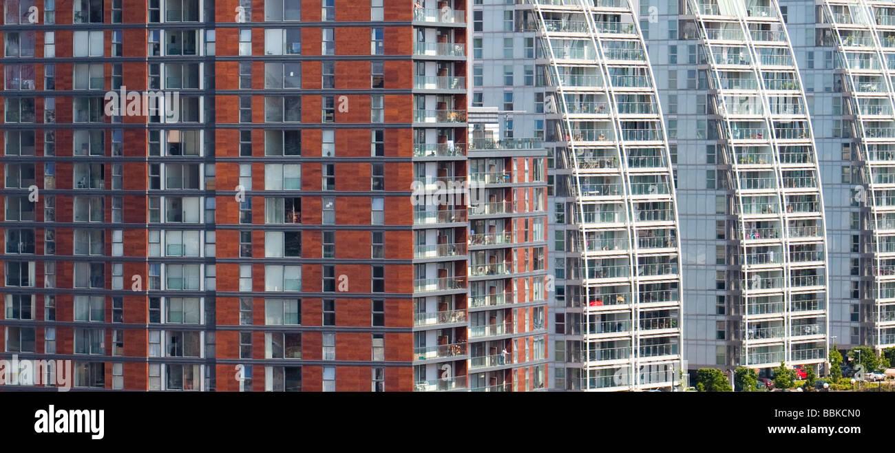 NV buildings Salford Quays UK - Stock Image