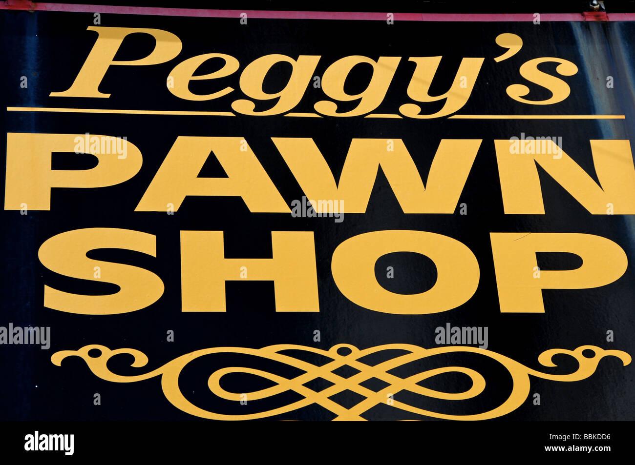 Pawn Shop, Plymouth, Massachusetts, USA - Stock Image