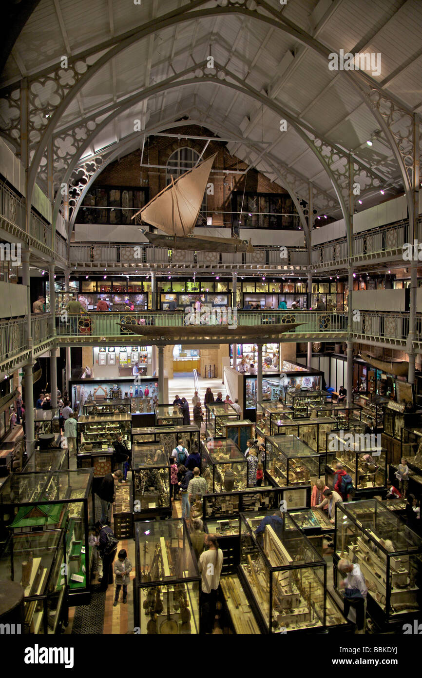 Pitt Rivers archeological and anthropological museum at Oxford University England - Stock Image