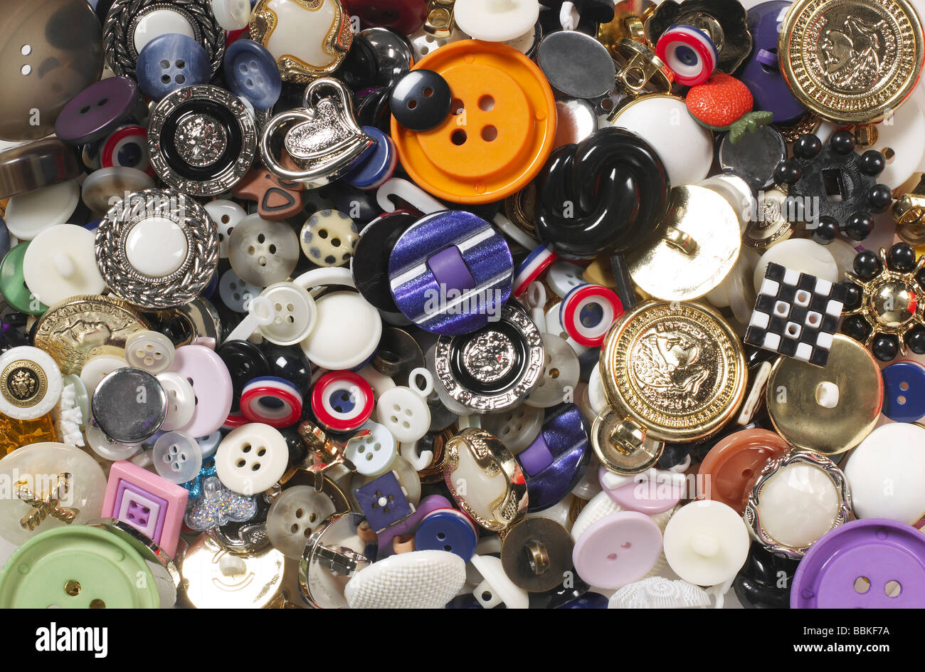 Assorted Buttons - Stock Image