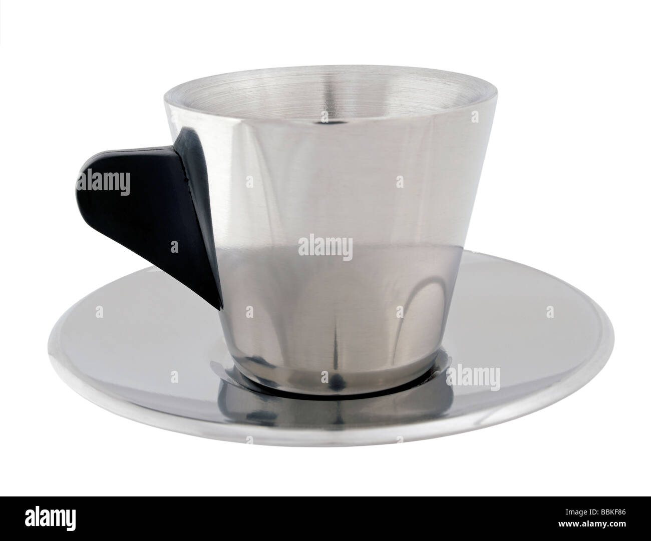 Chrome espresso cup - Stock Image