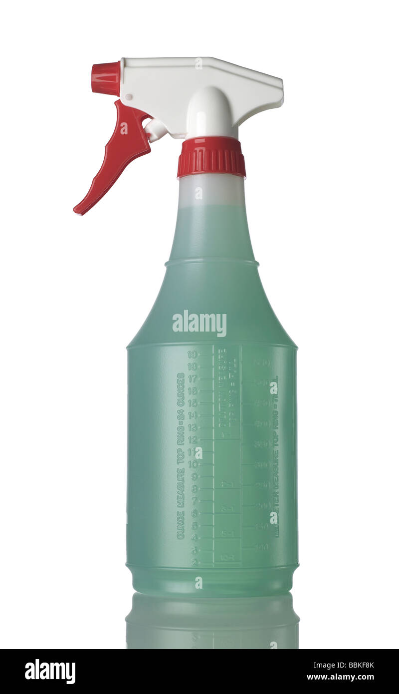 One 1 spray bottle - Stock Image