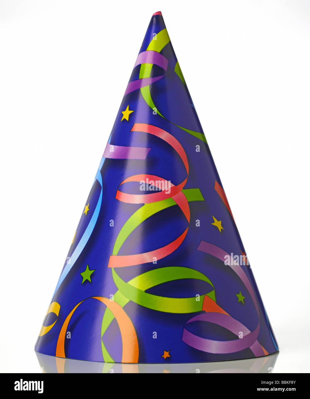 Paper Birthday Party Hat Celebrate Ribbons Stars Colorful Cone