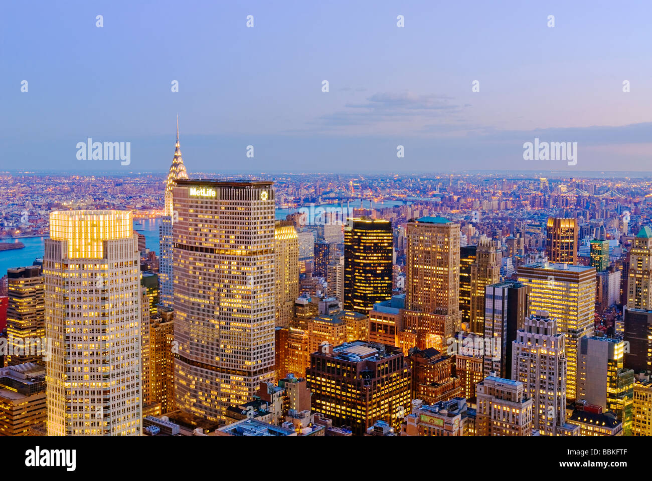 View from Top of the Rock - Stock Image