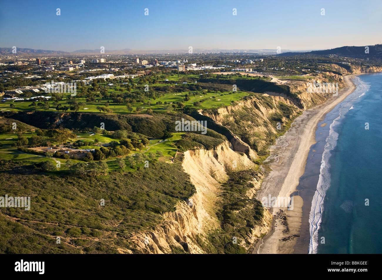 Torrey Pines Golf Course San Diego County La Jolla California - Stock Image