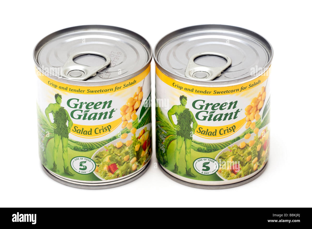 Two tins of Sweetcorn for Salads - Stock Image