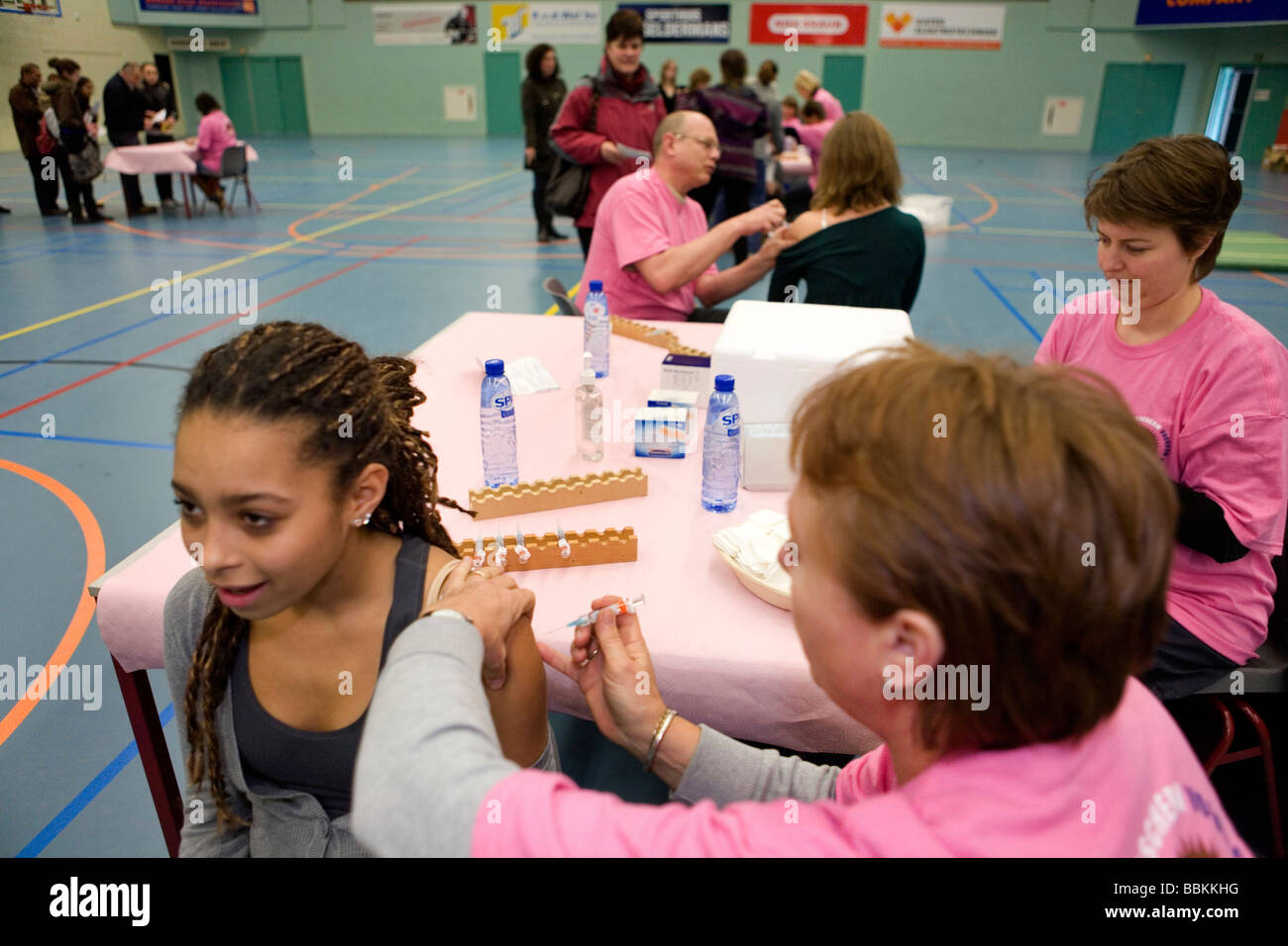 nationwide vaccination campaign against cervical cancer The vaccin has not proven to be affective Many mothers are Stock Photo