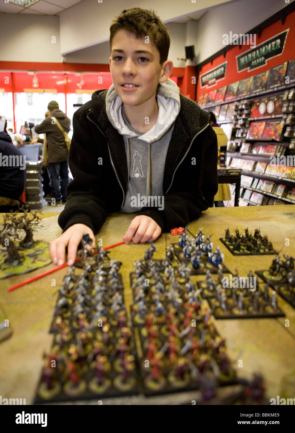 Games Workshop is originally from England but now also very popular in the Netherlands It is a game that consists - Stock Image