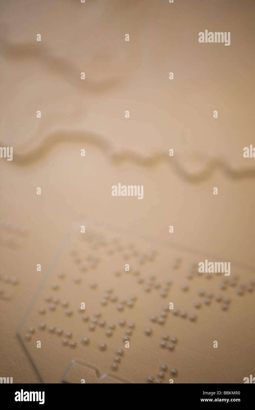 Visio is a special school for blind and partially sighted There are many tools such as Braille magnifying glasses - Stock Image