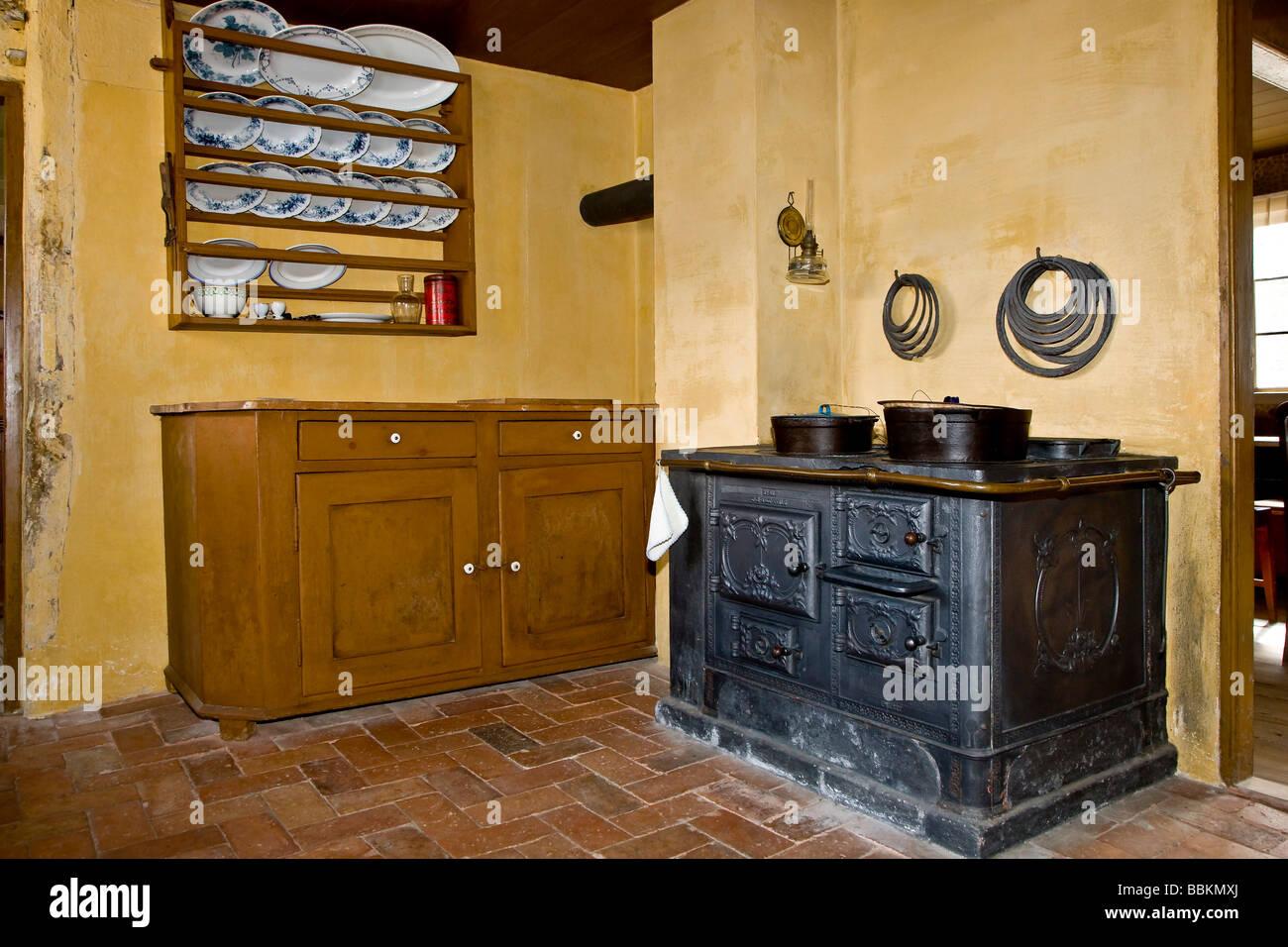 Old kitchen interior - Stock Image