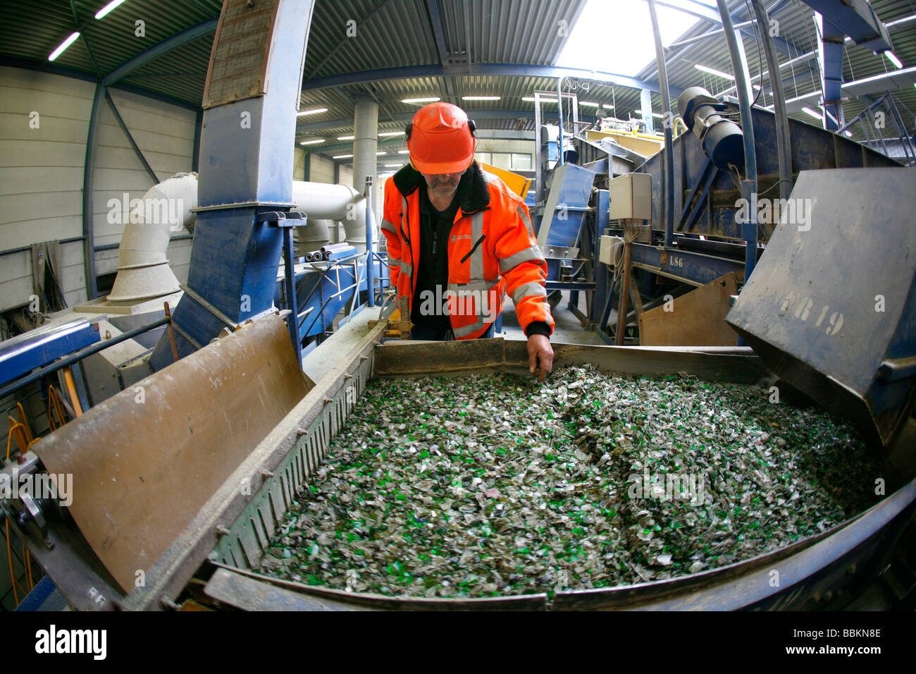 Recycling of toxic waste All municipalities in The Netherlands are required to provide known collection points for - Stock Image
