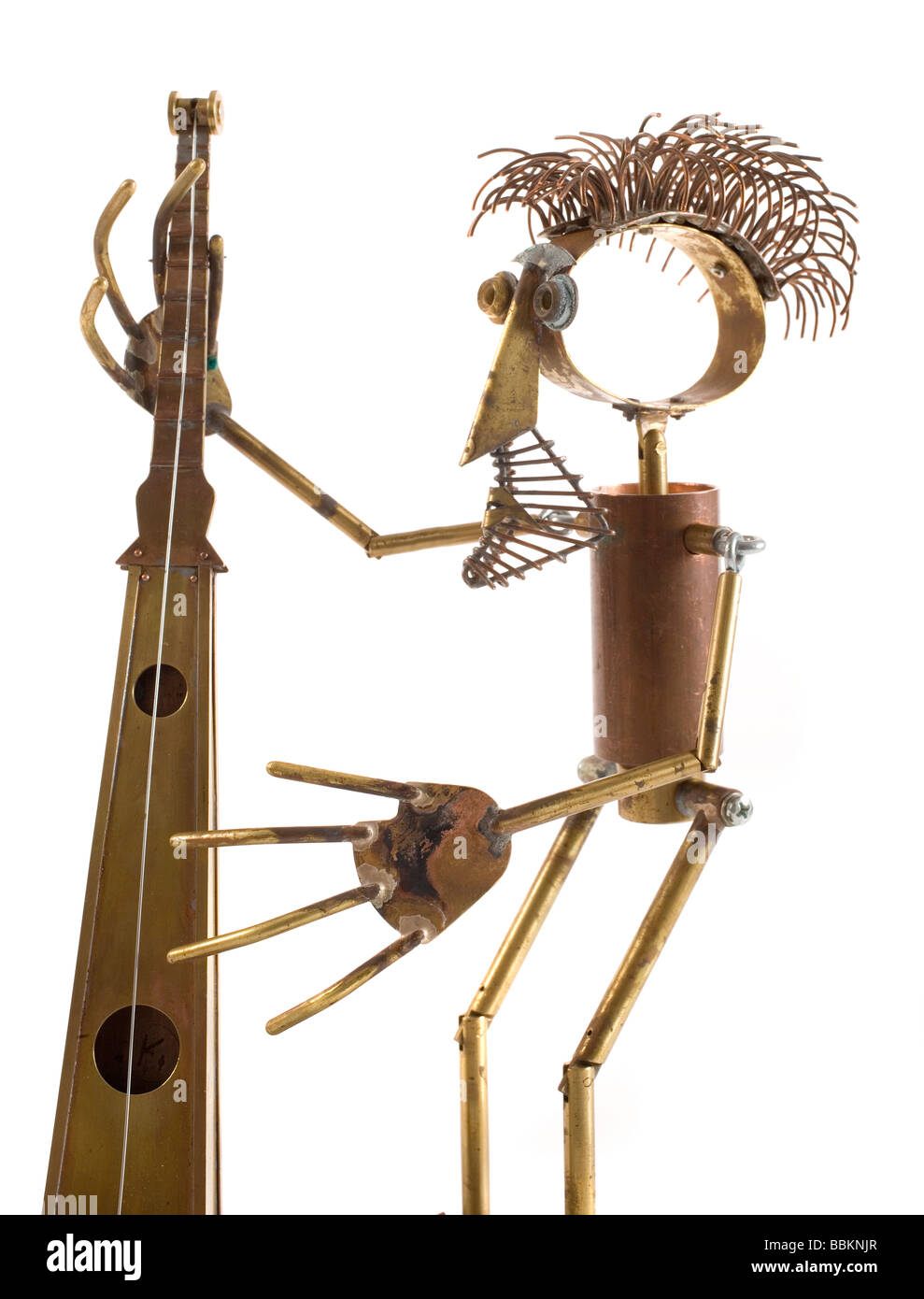 marionettes manufactured manually with different metals, political caricatures, work of art, workmanship - Stock Image