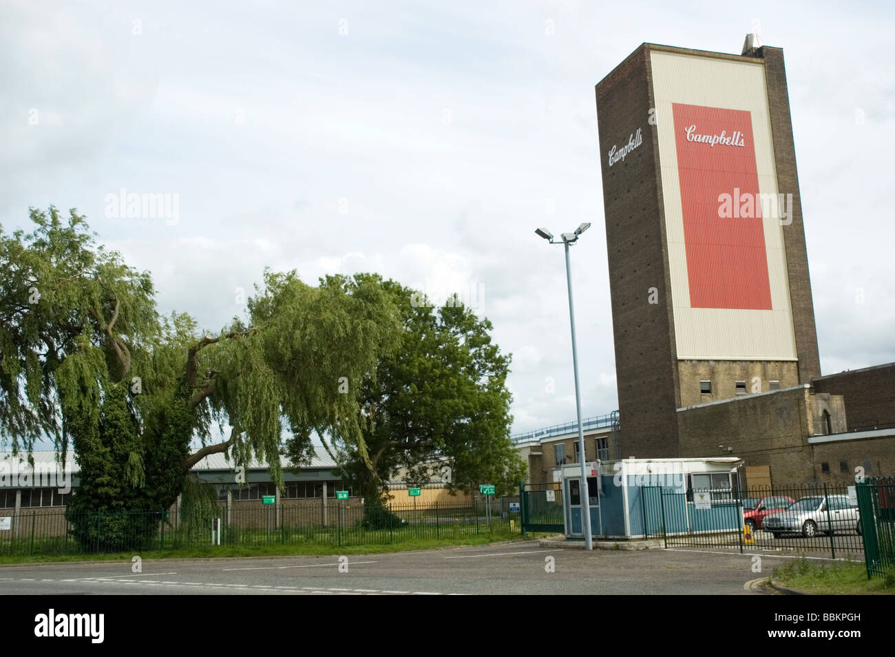 Campbell's Soups tower, Hardwick Road, King's Lynn, Norfolk, England.  The site is to be redeveloped for - Stock Image