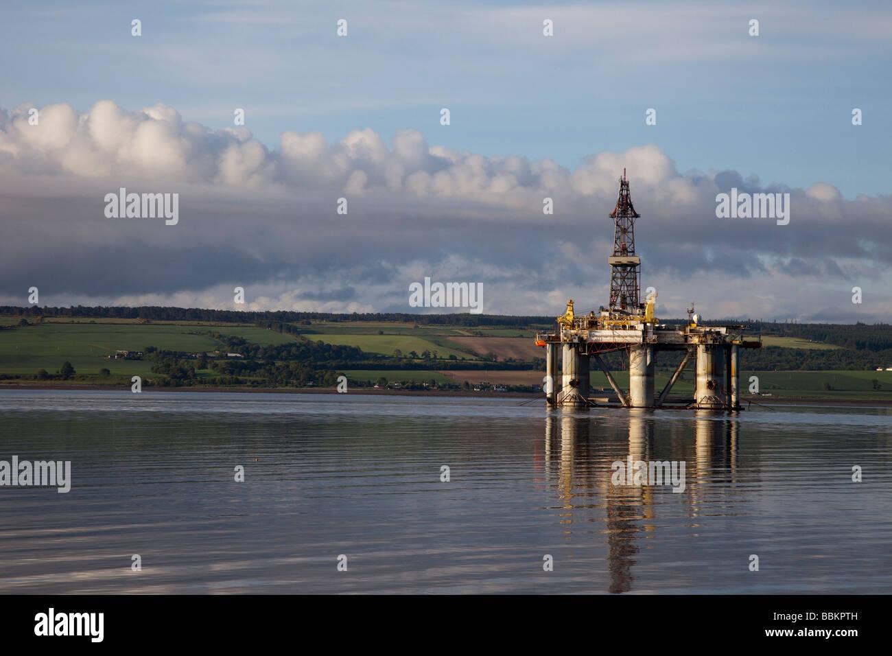 GSF Arctic II platform at Invergordon, Cromarty Firth, Ross-shire, Scotland, UK - Stock Image