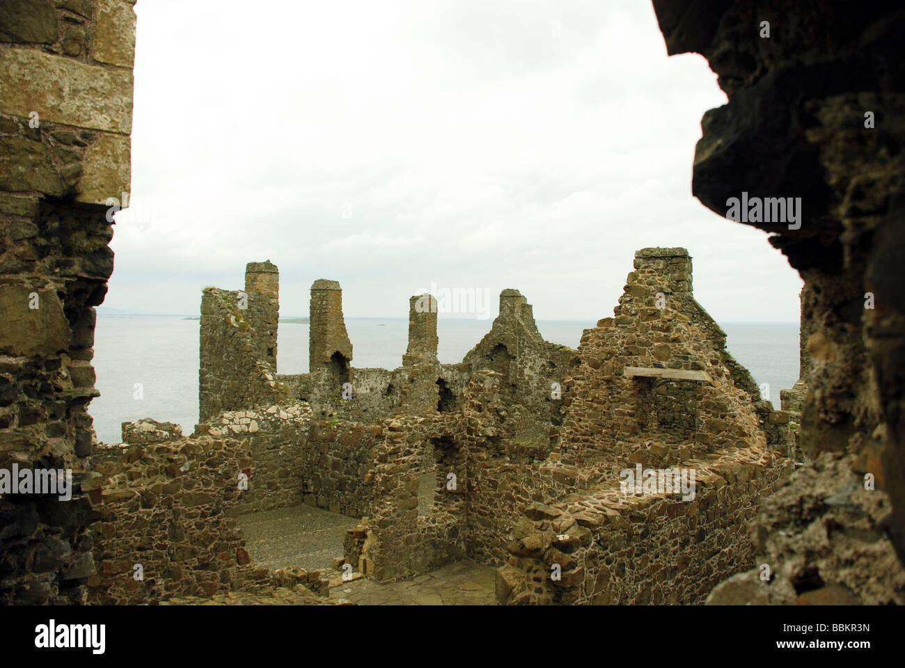 County Antrim Northern Ireland Dunluce Castle - Stock Image