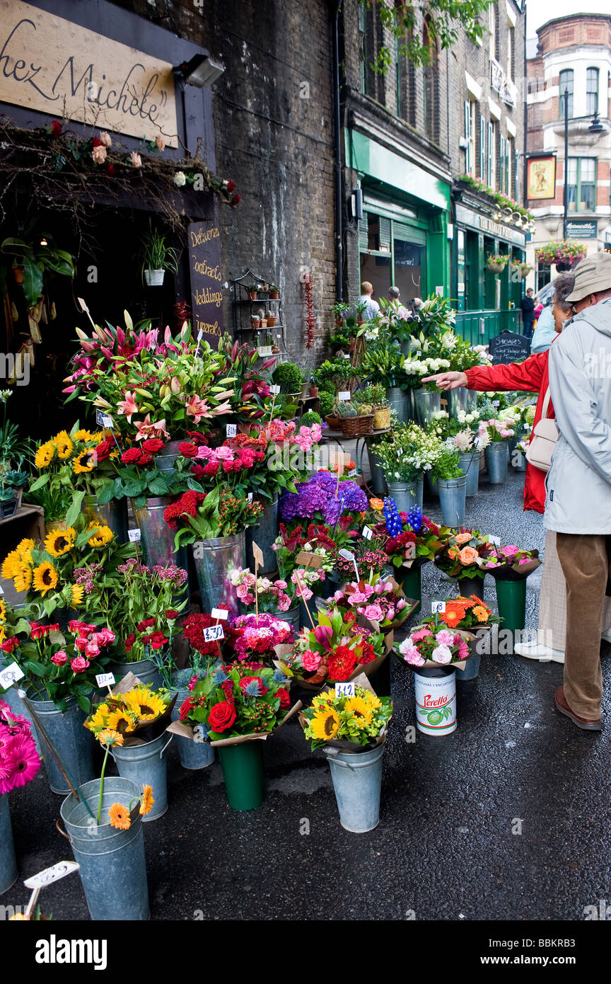 Borough Market in London.  Photo by Gordon Scammell - Stock Image