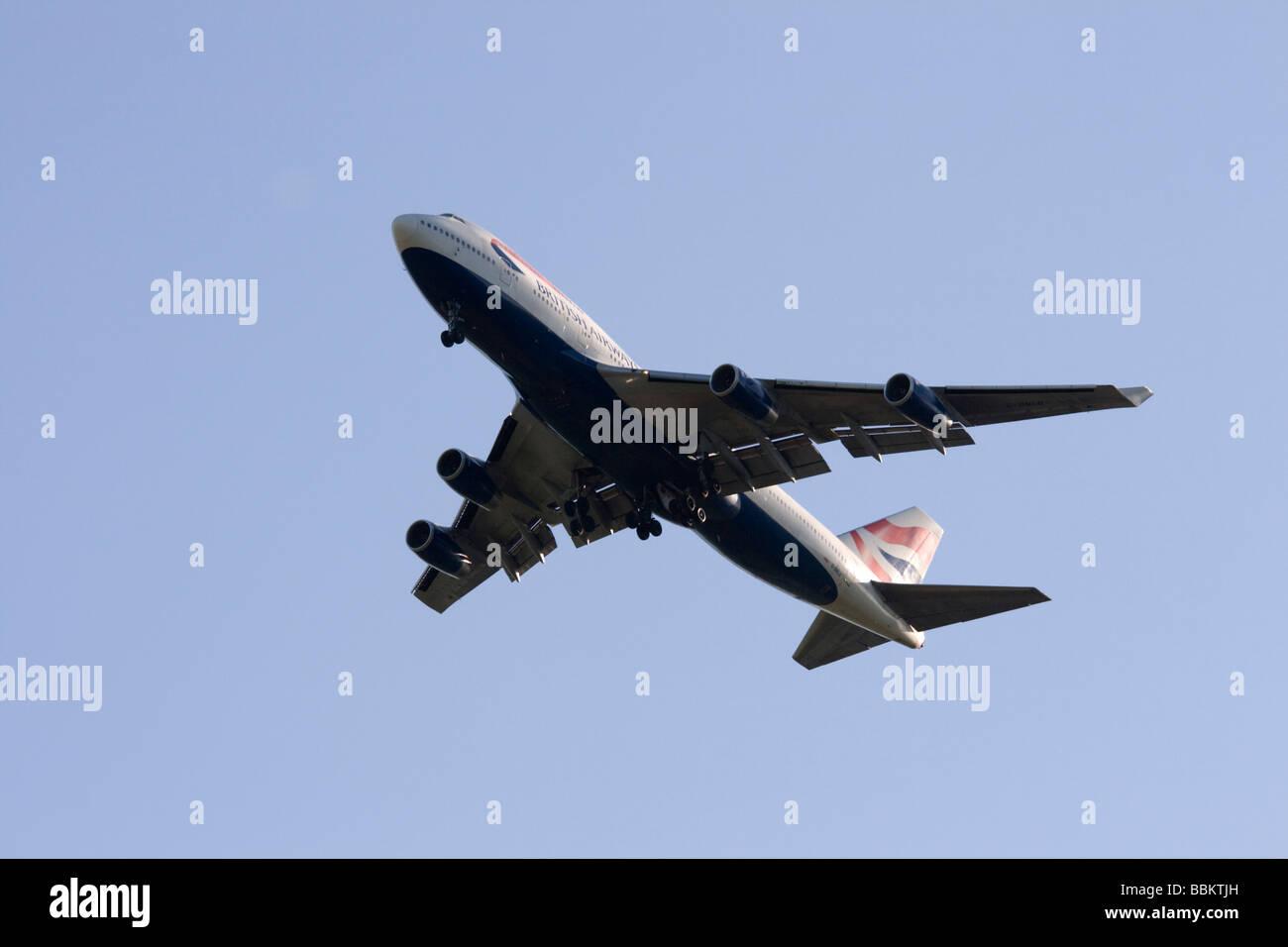 Commercial jet airliner, British Airways, Boeing 747-436 - Stock Image