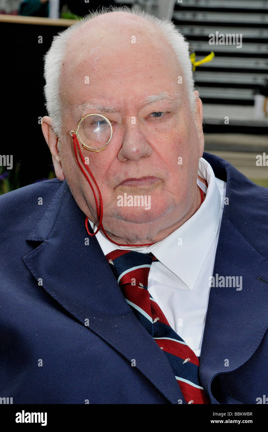 SIR PATRICK MOORE - UK astronomer and TV presenter in May 2008 Stock Photo