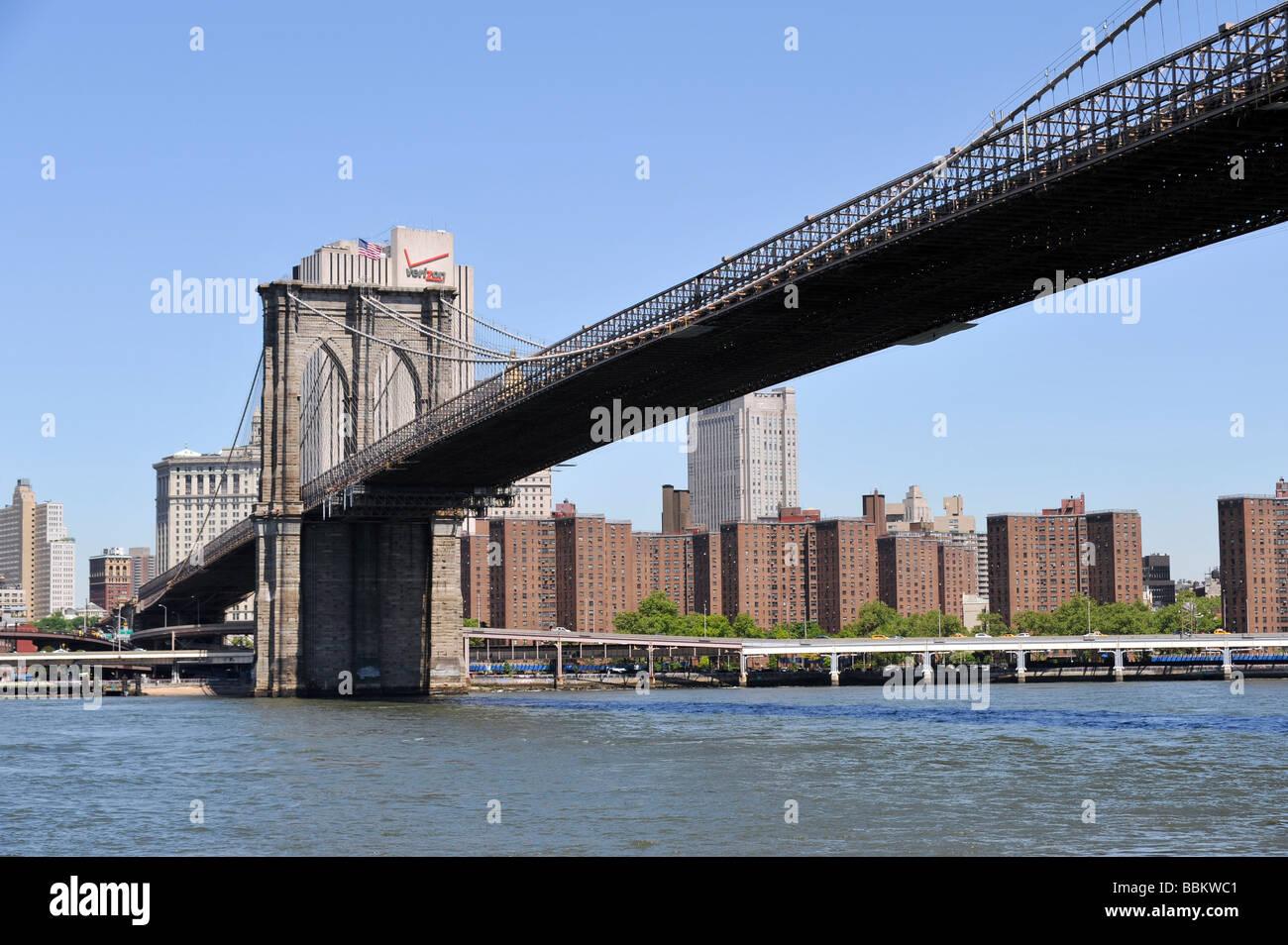 Brooklyn bridge manhattan side stock photo 24408609 alamy brooklyn bridge manhattan side malvernweather Images