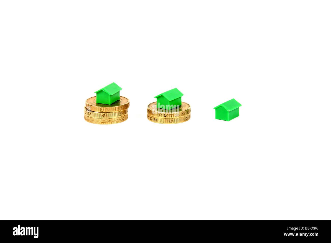 Money market home value concept photo - Stock Image