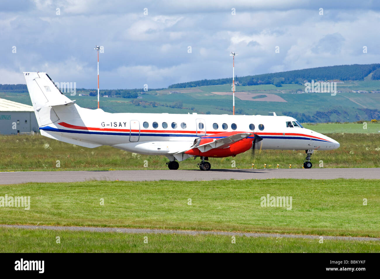 Highland Airways G-ISAY Jetstream 41 aircraft at Inverness   SCO 2507 - Stock Image
