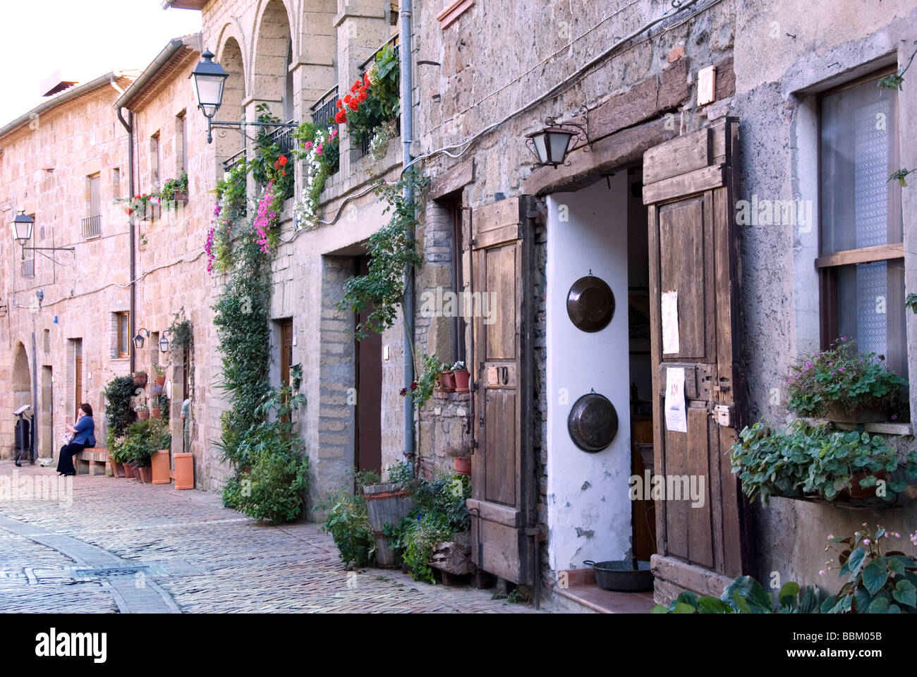 Sovana an Etruscan settlement and important town in the middle ages and birthplace of Pope Gregory VII - Stock Image
