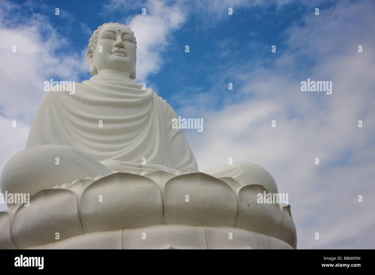 buddha seated at long son pagoda Stock Photo