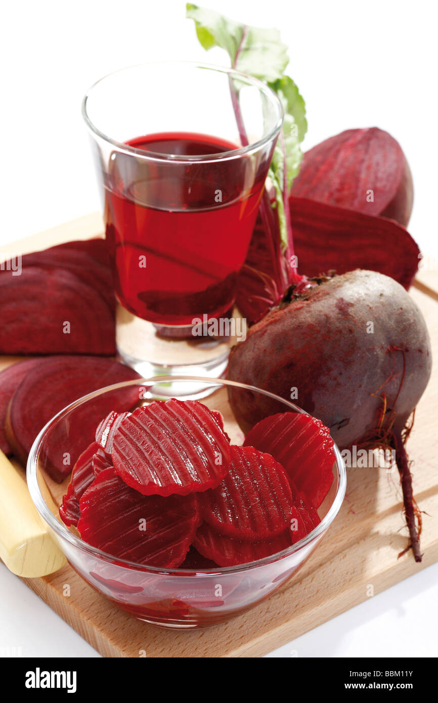 Beetroot and beetroot juice Stock Photo