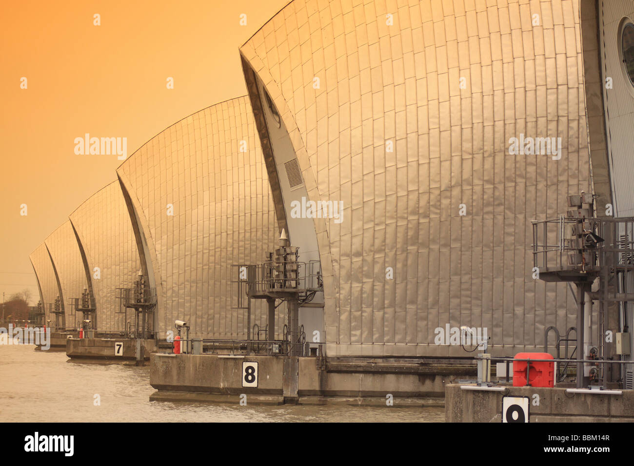 Thames',london,uk, Thames, barrier,flood 'Modern, Architecture - Stock Image