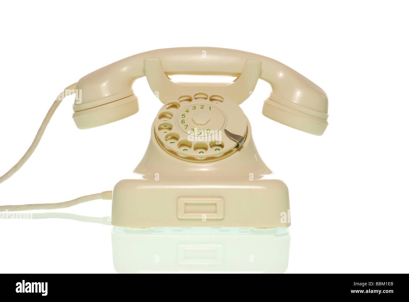 Old-fashioned telephone - Stock Image