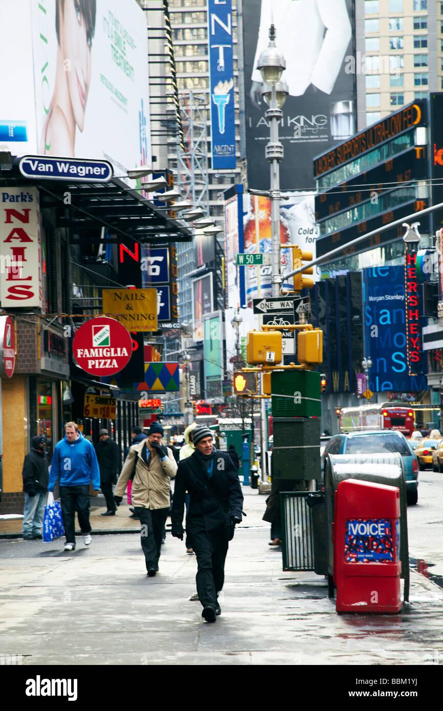street scene, Time Square, New York - Stock Image