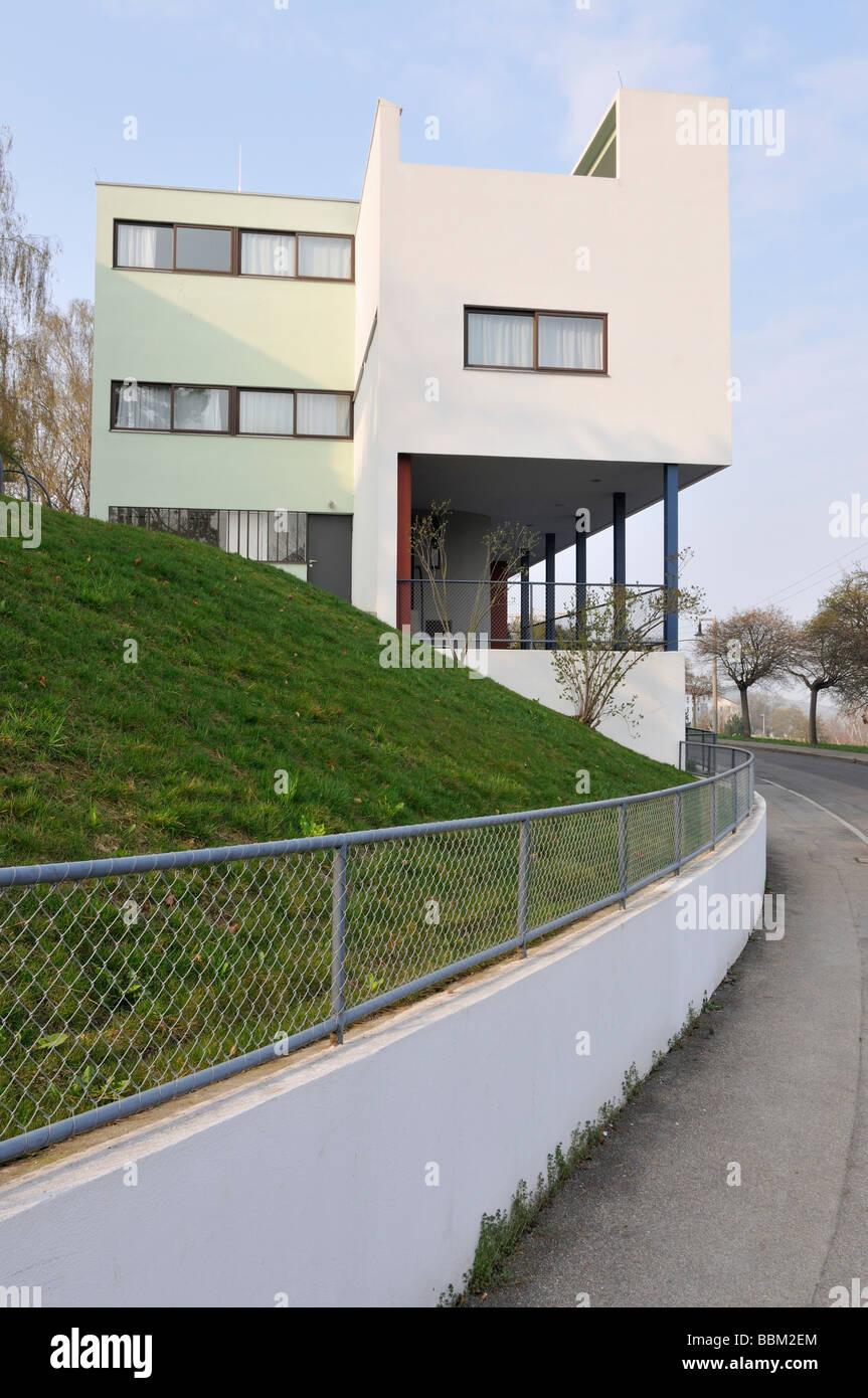 Weissenhofsiedlung Estate Stuttgart, duplex Rathenaustreet 1-3, Le Corbusier, Pierre Jeanneret, Baden-Wuerttemberg, - Stock Image