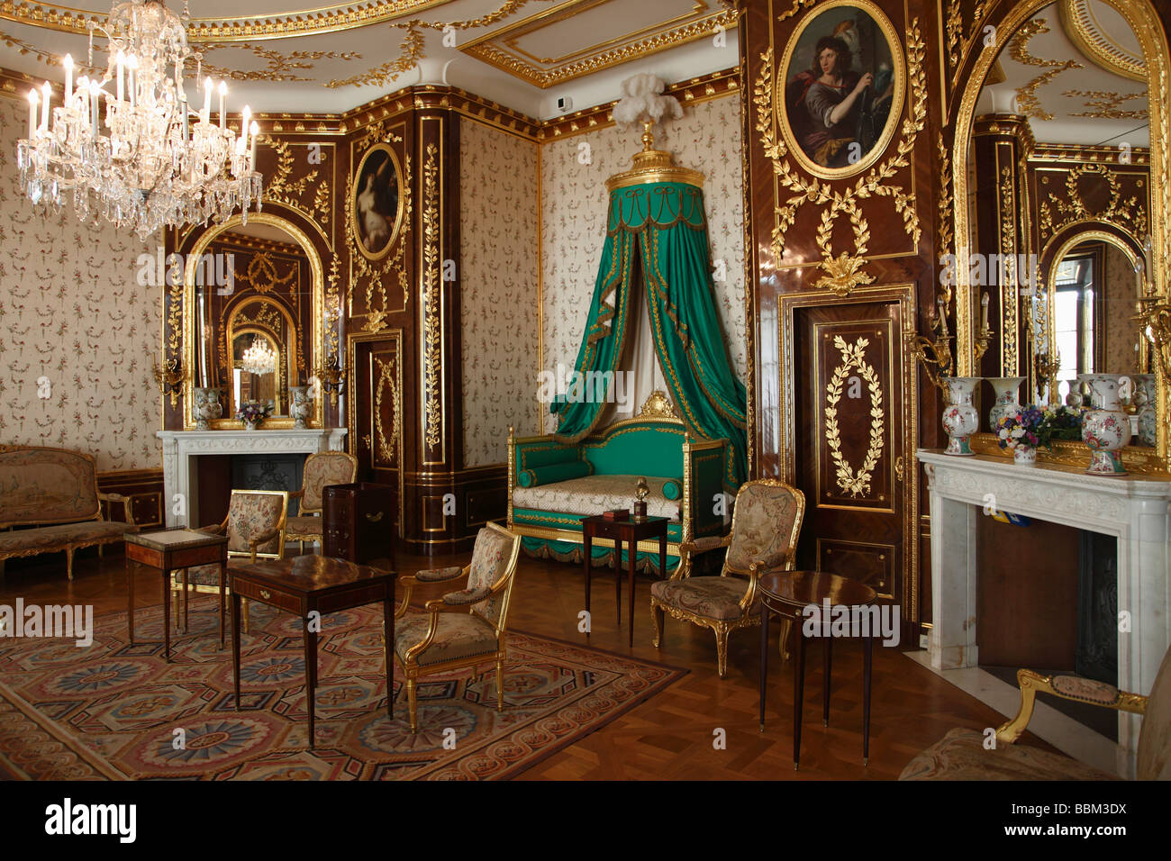 Poland Warsaw Royal Castle interior - Stock Image