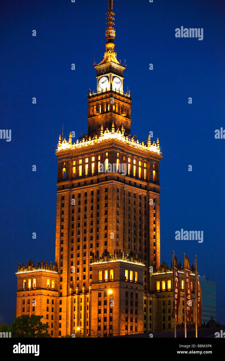 Poland Warsaw Palace of Culture and Science Stock Photo