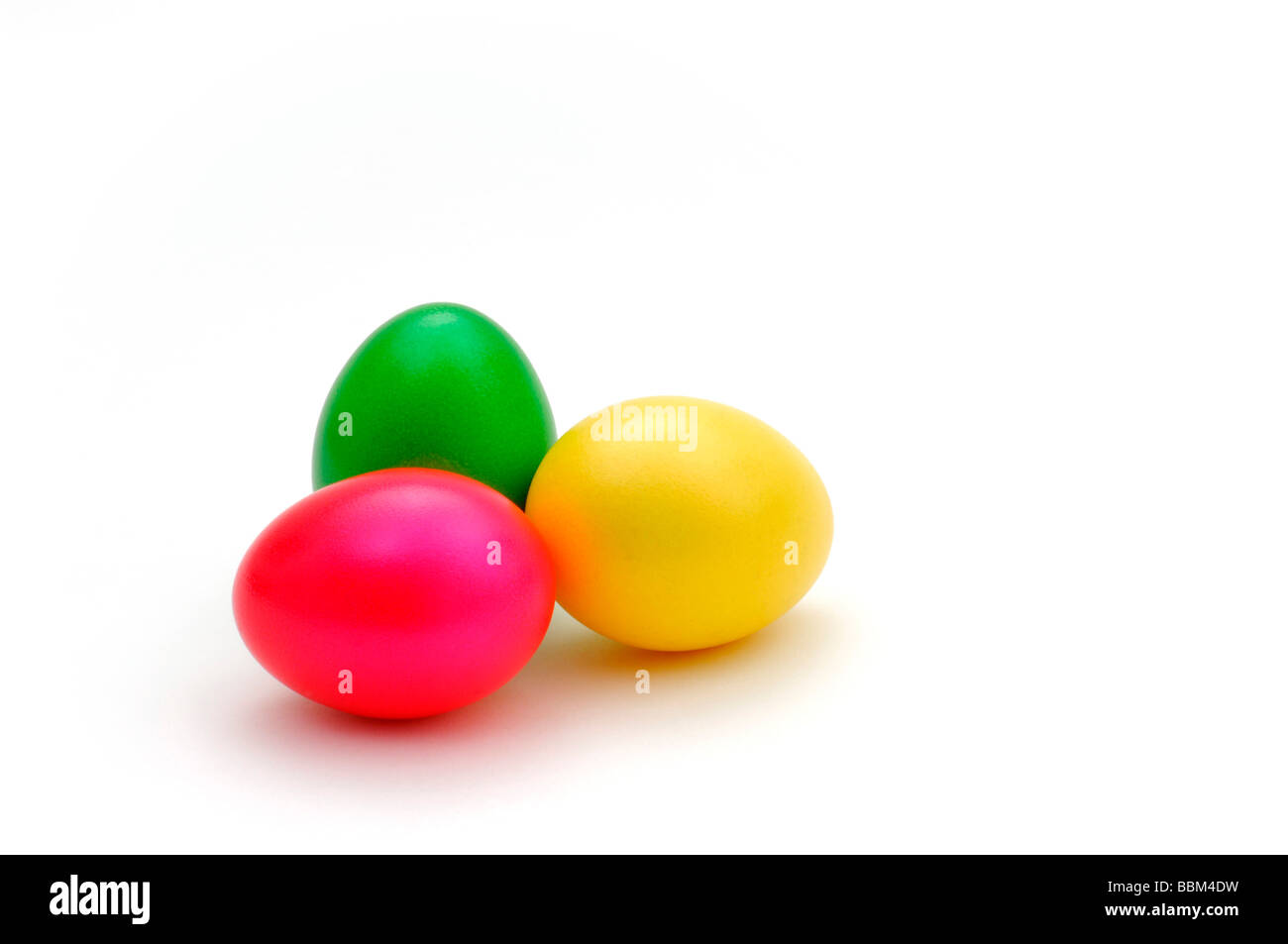 Coloured Easter eggs, Easter - Stock Image