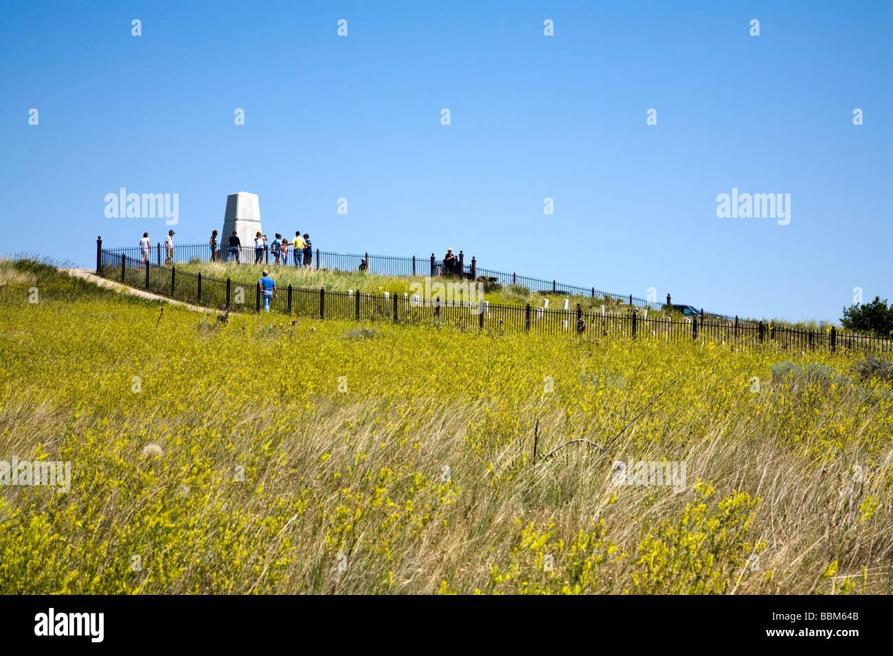 Main battlefield area, Little Bighorn Battlefield National Monument, Montana, USA. Custer's Last Stand. Stock Photo