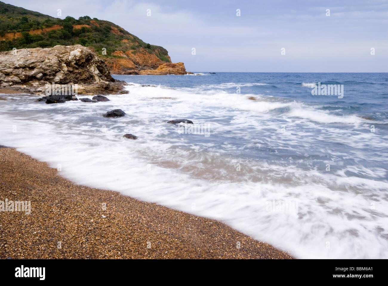 Breakers on Elba Island, Italy, Europe - Stock Image