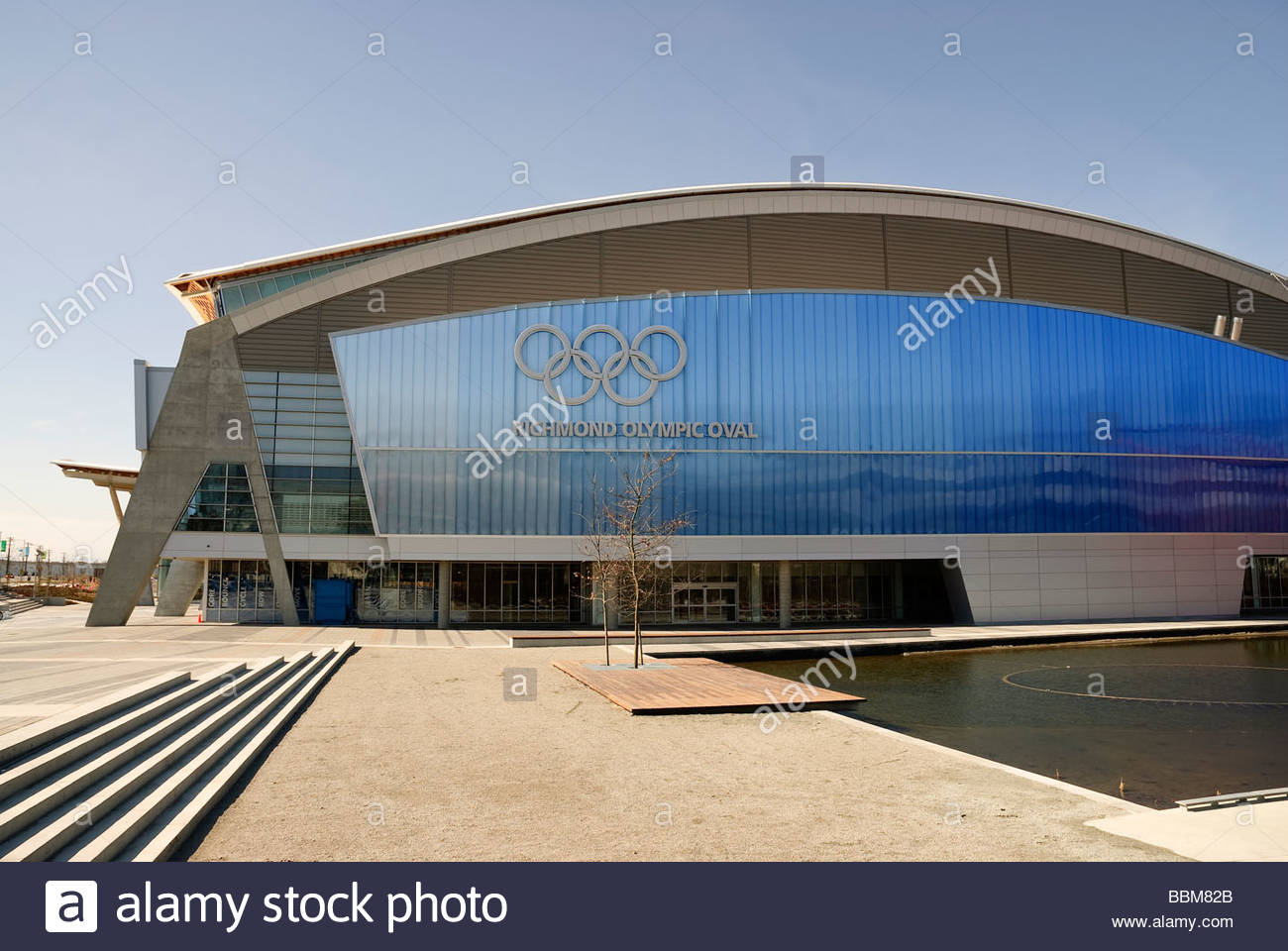 An exterior view of the Richmond Olympic Oval the speed skating venue for the 2010 Olympic Winter Games Stock Photo